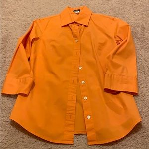 Orange J Crew Button Down
